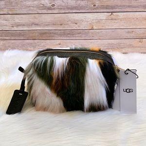 UGG Janey Crossbody Patchwork Faux Fur Bag